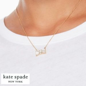kate spade | White Mother of Pearl Bow Necklace